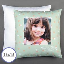 Aqua Dot Personalized Pillow Cushion Cover 16