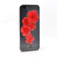 Flower Custom Raised 3D iPhone 5 Case