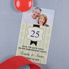 Saige Anniversary Plate Personalized Photo Magnet