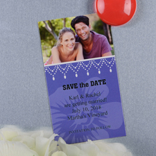 Create And Print Plum Luster Photo Save The Date Magnet 2x3.5 Card Size