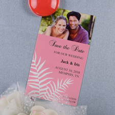 Create And Print Pink Fern Personalized Photo Magnet 2x3.5 Card Size