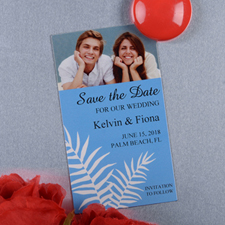 Create And Print Blue Fern Personalized Photo Magnet 2x3.5 Card Size
