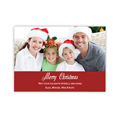 Personalized Merry Christmas  Red Invitation Holiday Cards