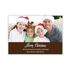 Personalized Merry Christmas  Chocolate Invitation Holiday Cards