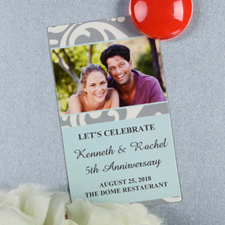 Create And Print Blue Lawn Personalized Photo Magnet 2x3.5 Card Size