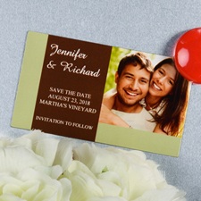 Create And Print Sage Branded Personalized Photo Magnet 2x3.5 Card Size