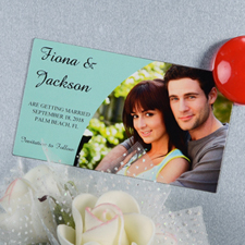Create And Print Sky Simple Personalized Photo Magnet 2x3.5 Card Size