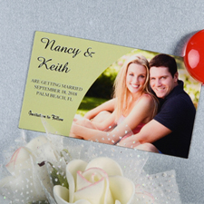 Create And Print Sage Simple Personalized Photo Magnet 2x3.5 Card Size