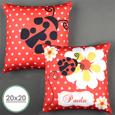 Ladybug Personalized Large Pillow Cushion Cover 20