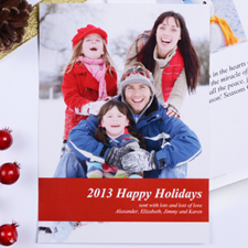 Personalized Merry Kissmass  Red Invitation Holiday Cards