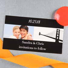 Create And Print Black San Francisco Personalized Photo Wedding Magnet 2x3.5 Card Size