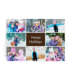 Custom Printed 8 Photo Collage Great Joy  Chocolate Greeting Card