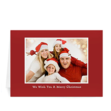 Custom Printed Red Christmas Greeting Card