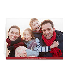 Custom Printed Greatest Gift  Red Greeting Card