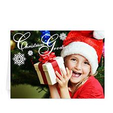 Custom Printed Mod Merry Christmas Greeting Card