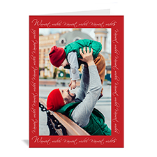 Custom Printed Warmest Wishes Greeting Card