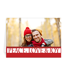 Custom Printed Merry Gifts Greeting Card