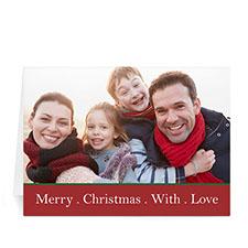 Custom Printed Merry Cheer Greeting Card
