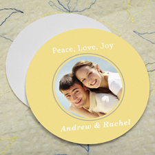 Lemon Personalized Photo Round Cardboard Coaster