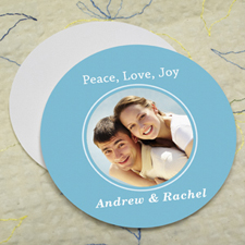 Ocean Personalized Photo Round Cardboard Coaster