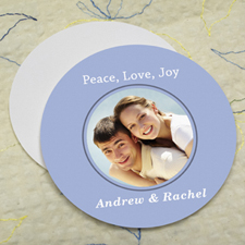 Sky Personalized Photo Round Cardboard Coaster