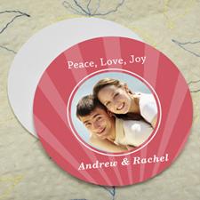 Carol Sparkle Personalized Photo Round Cardboard Coaster
