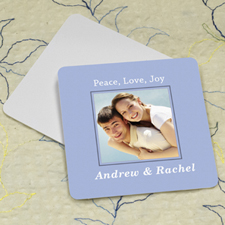 Sky Personalized Photo Square Cardboard Coaster