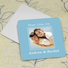 Ocean Personalized Photo Square Cardboard Coaster