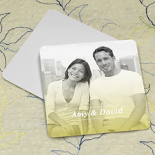 Simple Grey Personalized Photo Square Cardboard Coaster