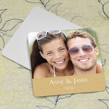 Natural Texture Personalized Photo Square Cardboard Coaster