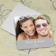 Grey Texture Personalized Photo Square Cardboard Coaster