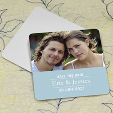 Sky Banner Personalized Photo Square Cardboard Coaster