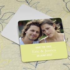 Lemon Banner Personalized Photo Square Cardboard Coaster