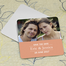 Carol Banner Personalized Photo Square Cardboard Coaster