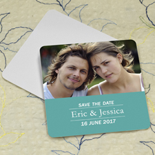 Peacock Banner Personalized Photo Square Cardboard Coaster
