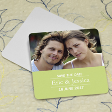 Lime Banner Personalized Photo Square Cardboard Coaster