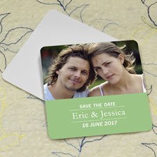 Mint Banner Personalized Photo Square Cardboard Coaster