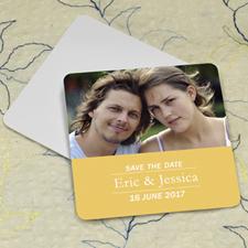 Sunshine Banner Personalized Photo Square Cardboard Coaster