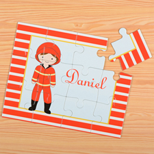 Fireman Personalized Kids Puzzle