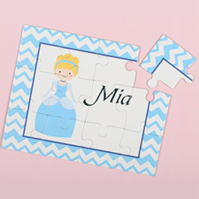 Little Princess Personalized Kids Puzzle, Gold Hair