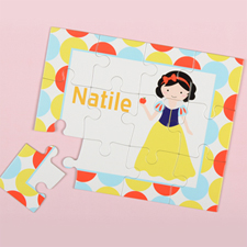 Little Princess Personalized Kids Puzzle, Black Hair