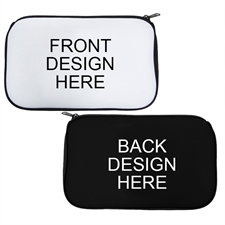 Custom 2 Side Neoprene Cosmetic Bag Black