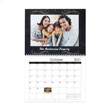 "Chalkboard 8.5""x11"" Personalized Wall Calendar"