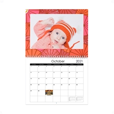 Glitter 8.5x11 Personalized Wall Calendar