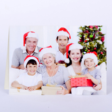Custom Printed Christmas Picture In Landscape Greeting Card