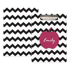 Black Chevron Apple Personalized Clipboard