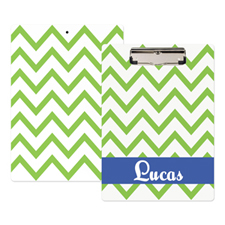 Green Chevron Personalized Clipboard