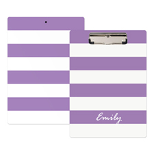 Purple Stripe Personalized Clipboard