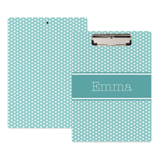 Blue Polka Dot Personalized Clipboard