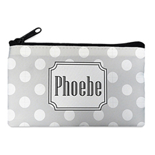 Polka Dots Personalized Cosmetic Bag (Many Color)